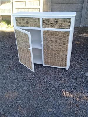2 Door and 2 drawer white cabinet