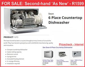 Swan 6 Place Dish Washer - Table Top - AS NEW