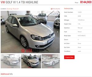 2009 VW Golf 1.4TSI Highline