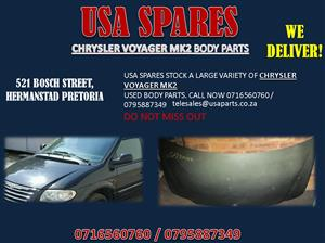 CHRYSLER VOYAGER MK2 BODY PARTS FOR SALE- USA SPARES