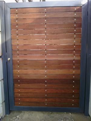 wooden gates and steel metal gates Pretoria east