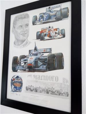 F1 David Coulthard Framed Print