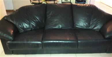 Leather lounge suite Grafton Everest genuine