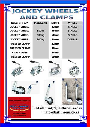 Jockey Wheels and Clamps