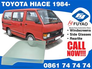 Brand new sidedoor glass for Toyota Hiace 1984- Taxi