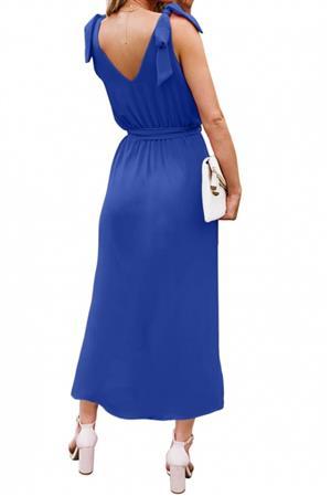 Tie Shoulder Mid Maxi Dresses