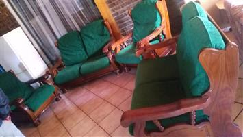 6 Seat wooden lounge suite