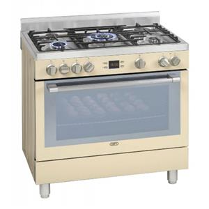 DEFY 900mm 5 Burner Gas Electric Stove Creamy