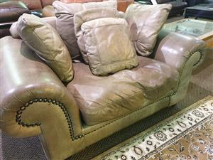 Coricraft 100% Genuine Exotic Leather 1 seater couch for sale R 5500