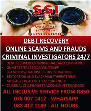 PRIVATE INVESTIGATORS- TOP SPECIALISTS DETECTIVES IN SOUTH AFRICA CREDIT CARDS ACCEPTED SSICONSULTANTS EST.1995 T/A STRATEGIC IN-DEPTH INVESTIGATIONS