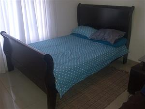 Sleigh Double BED with Mattress