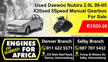 Used Daewoo 2.0L Dohc x20sed 99-05 5speed Manual Gearbox For Sale