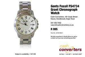 Gents Fossil FS4734 Grant Chronograph Watch