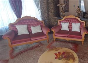 2 smaller size Victorian chairs