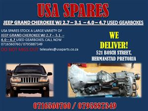 JEEP GRAND CHEROKEE WJ 2.7 3.1 4.0 4.7 USED GEARBOXES- FOR SALE-