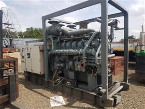1000 kva Mitsubishi S12N.12 cylinder twin turbo Generator