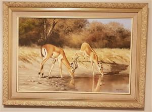 Thomas Hacking oil painting - Wildstudie