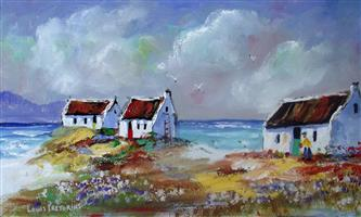 Fishermans Cottages with sea birds
