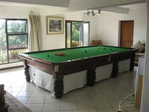 FULL SIZE CHAMPIONSHIP BILLIARD SNOOKER TABLE R15,000