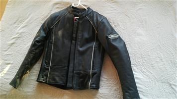 Ladies biker leather jacket