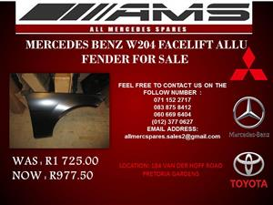 MERCEDES BENZ W204 FACELIFT ALLU FENDER ON SPECIAL