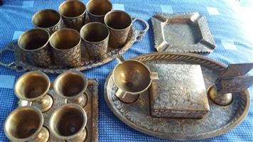 Vintage brass set made in India - 19 piece