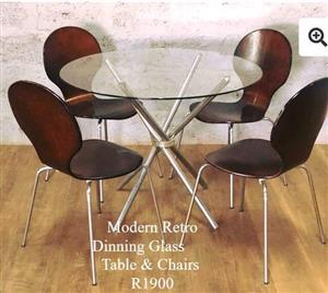 Modern Retro dining table & chairs