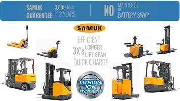 SAMUK Lithium Ion Material Handling equipment