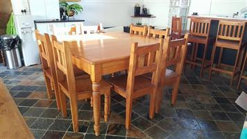 SOLID YELLOW WOOD DINING ROOM SUITE