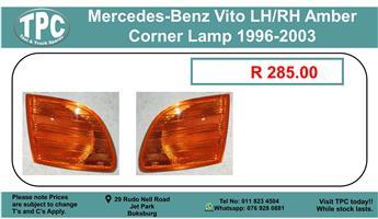 Mercedes-Benz Vito LH/RH Amber Corner Lamp 1996-2003 For Sale.