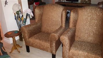 Wing Back Chairs R 4000 for both.