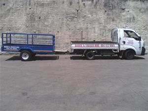 BAKKIE with Trailer en 4Ton Truck HIRE