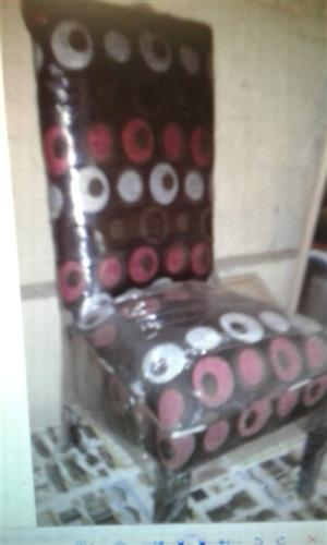 Brown,white and pink spotted chair