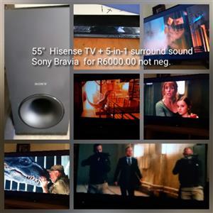 Hisense smart tv 55 inch combo