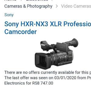 sony nx3 professional cameras