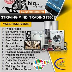 For All Your Repair and Maintenance Needs Choose Striving Mind Trading