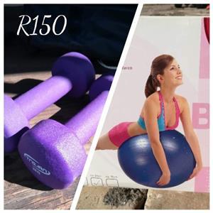 2 x 2KG weights & Body Ball