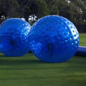 Set of 2 Zorb balls with pump