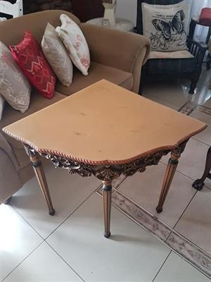 Wooden corner table for sale