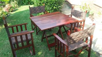 Rhodesian Teak table and chairs