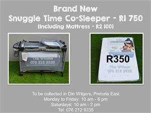 Brand New  Snuggle Time Co-Sleeper (Including Mattress - R2 100)