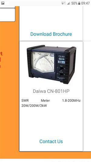 Cross needle swr power meter wanted