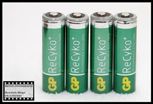 GP ReCyko+ 2050mAh Rechargeable AA Batteries