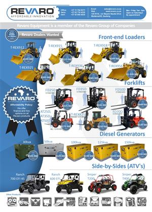 Front end Loaders and TLB's