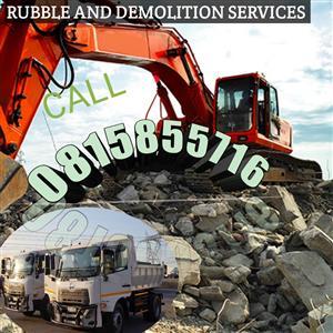 Demolition and Rubble 0815855716 services