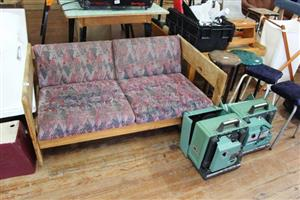2 Seater large patio couch with pillows