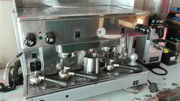 WEGA espresso machine with grinder
