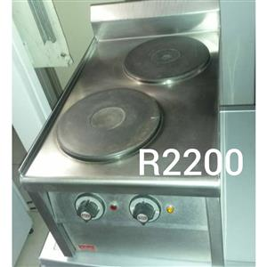 2 Large plate stove for sale