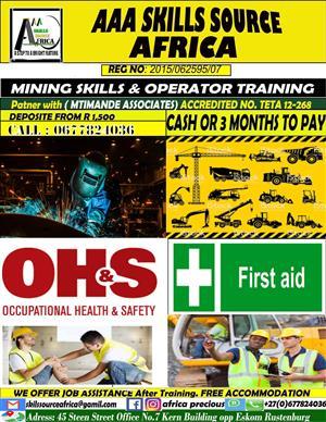 Drill rig operator training service, 0783767728