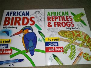 African birds and African reptiles and frogs books